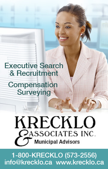 Ad: Executive Search & Recruitment, Compensation Surveying - Krecklo & Associates Inc - Municipal Advisors