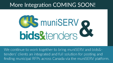 muniSERV & bids&tenders integration