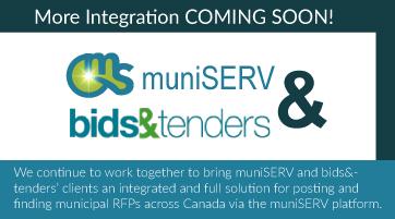 muniSERV & bids&tenders integration
