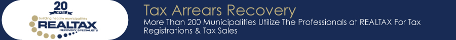 Advertisement for REALTAX Recovery Specialists