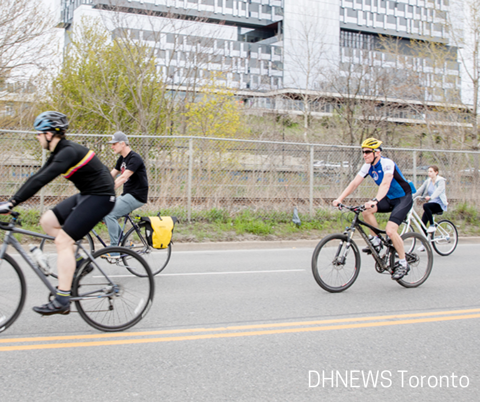 cyclists on Toronto city streets
