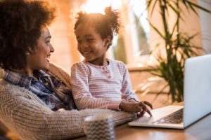 Mother and Child at a laptop