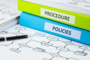 binders on policies and procedures
